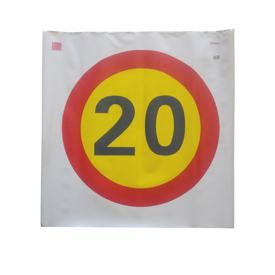 Imagen de Señal bolsa Limite de Velocidad 20 km/h