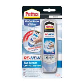 Imagen de Silicona juntas baño Pattex Re-new 100 ml.