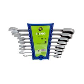 Imagen de Juego 8 llaves combinadas con carraca fija Irimo