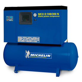 Imagen de Compresor silencioso de pistón Michelin MCXD598/300N