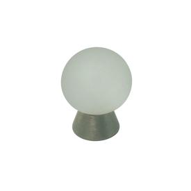 Imagen de Pomo cristal translúcido y acero Estamp