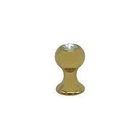 Imagen de Pomo dorado con cristal Estamp