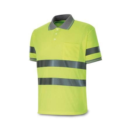 Imagen de Polo alta visibilidad amarillo manga corta talla L