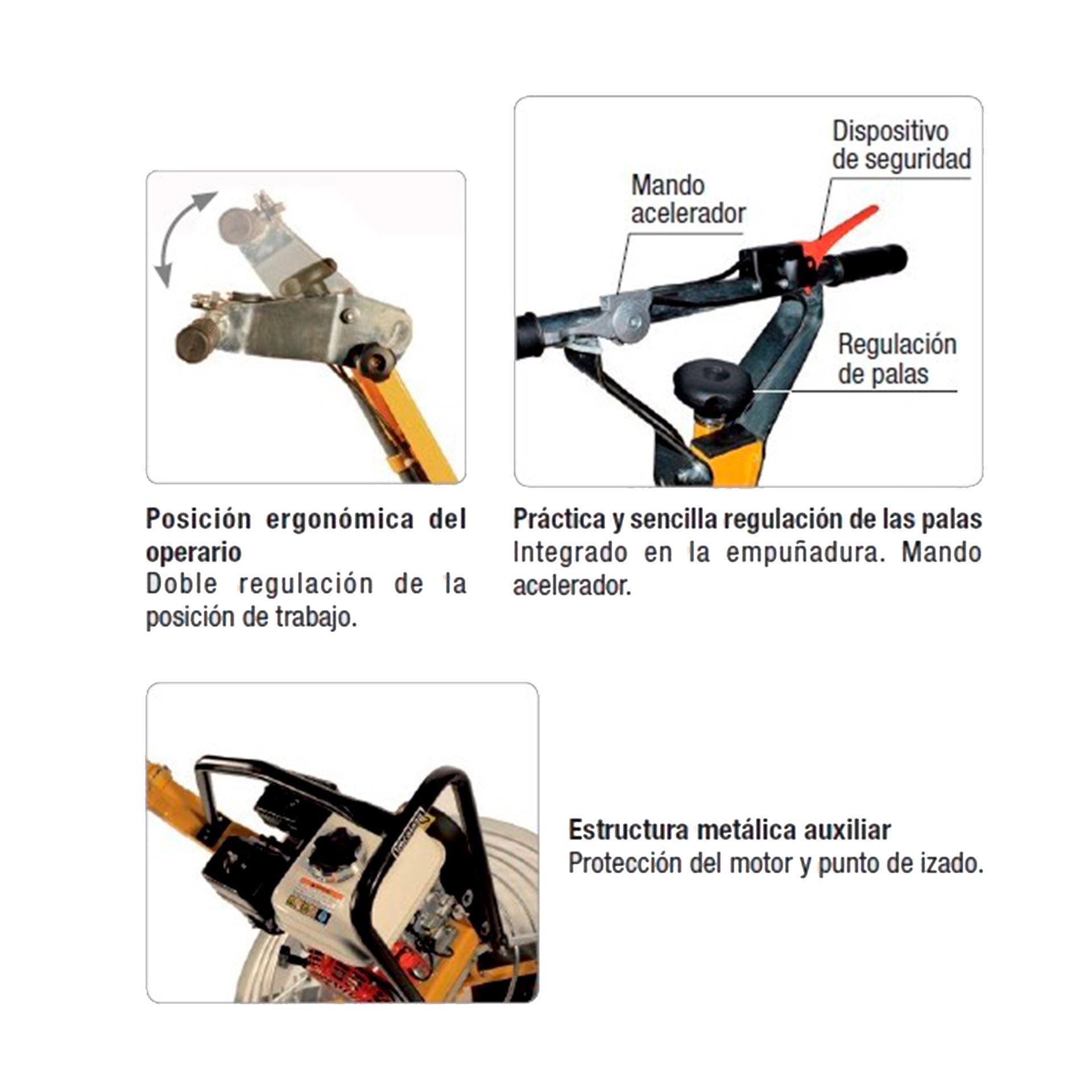 Imagen de Fratasadora hormigón Imcoinsa 2A10 motor Honda