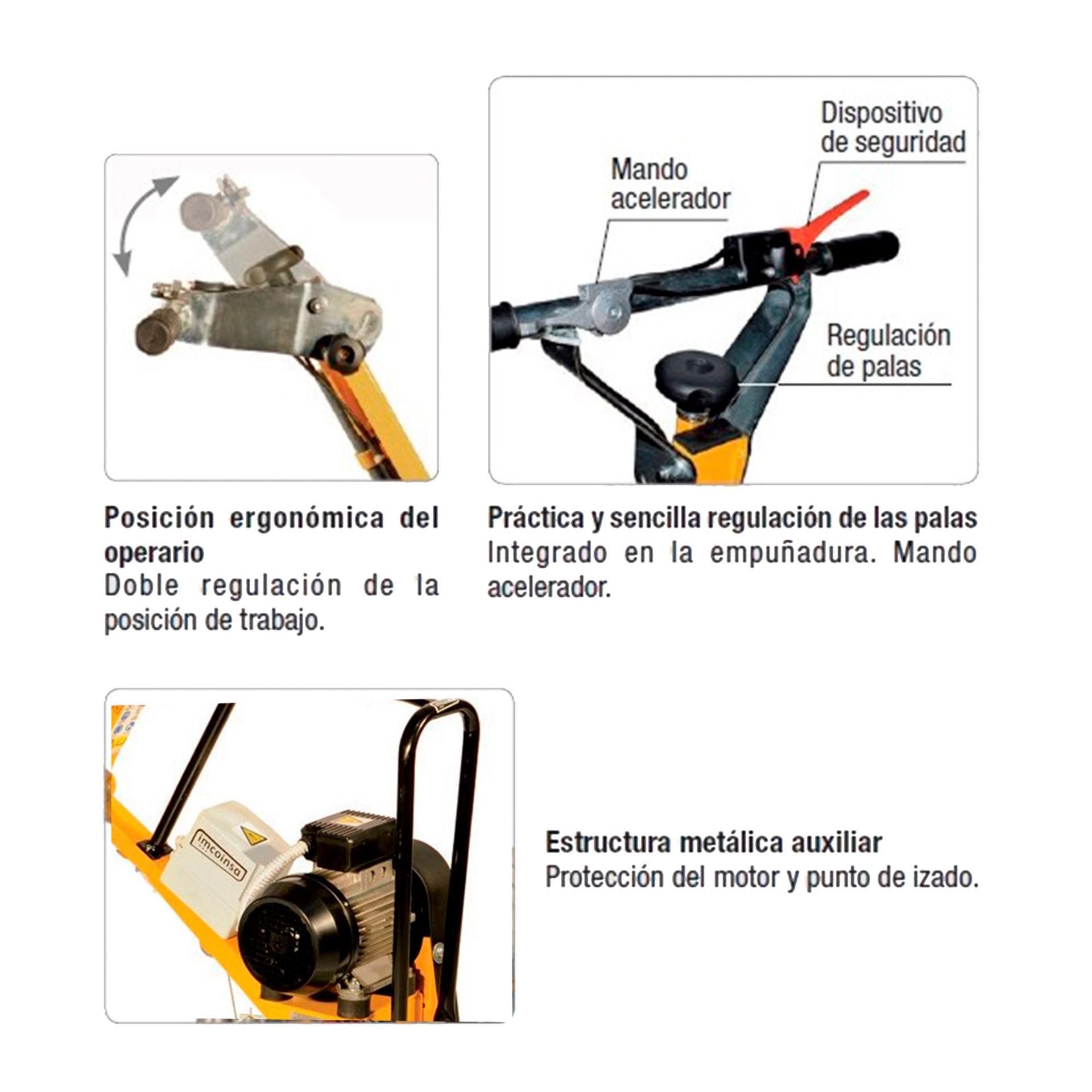 Imagen de Fratasadora hormigón eléctrica Imcoinsa 2A06