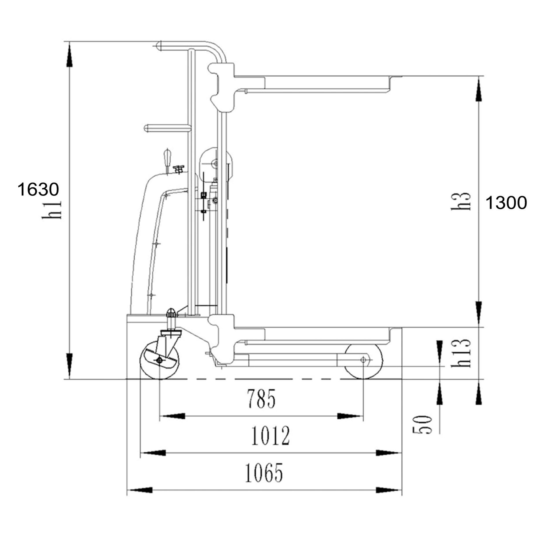 Imagen de Elevador apilador semi eléctrico Ayerbe AY 1630 ASE 400 Kg