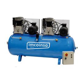 Imagen de Compresor tandem 5,5 + 5,5 HP 500 litros Imcoinsa 0411