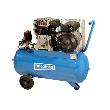 Imagen de Compresor correas 3HP 25 litros Imcoinsa 04431