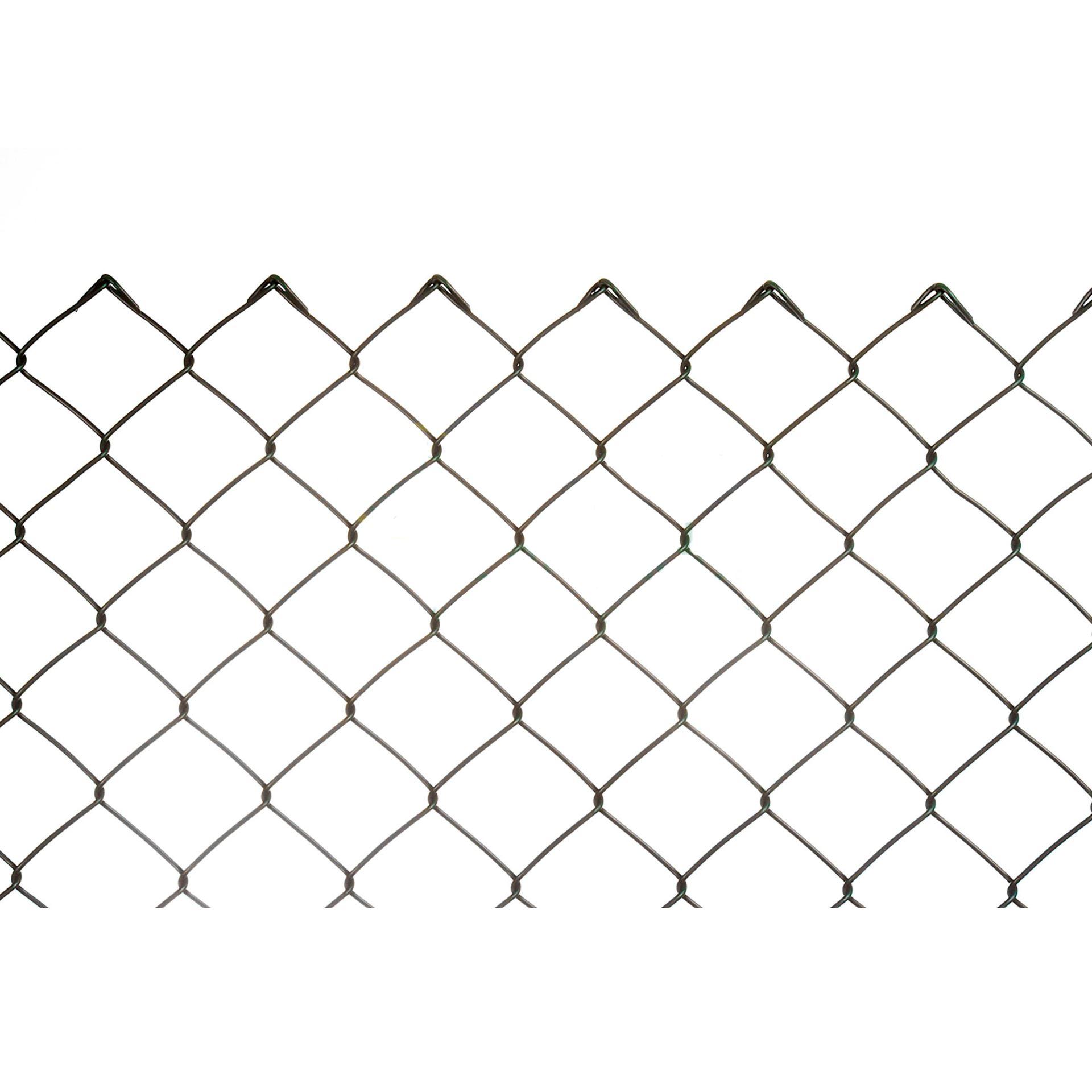 Imagen de Malla simple torsión galvanizada plastificada 3 mm 25 metros