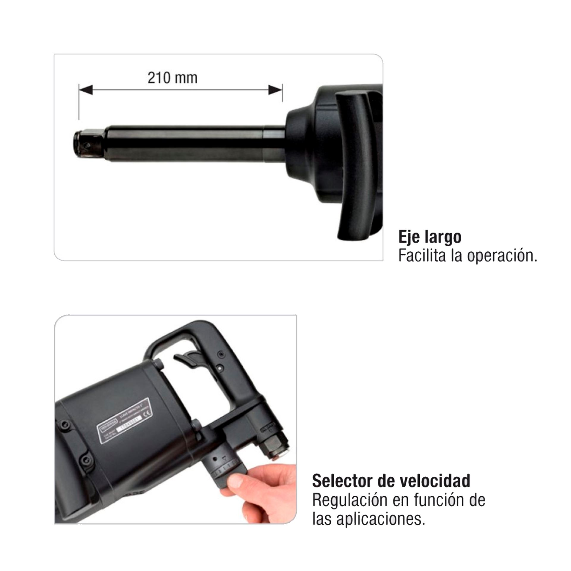 """Imagen de Pistola impacto 1"""" 3400 Nm Imcoinsa 0A417"""