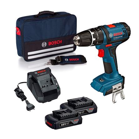 Imagen de Taladro atornillador Bosch GSB 18-2 LI 2 baterías