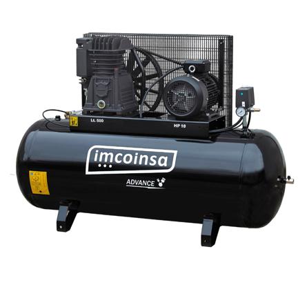 Imagen de Compresor de pistón 500 litros 10 HP Imcoinsa Advance 04A09