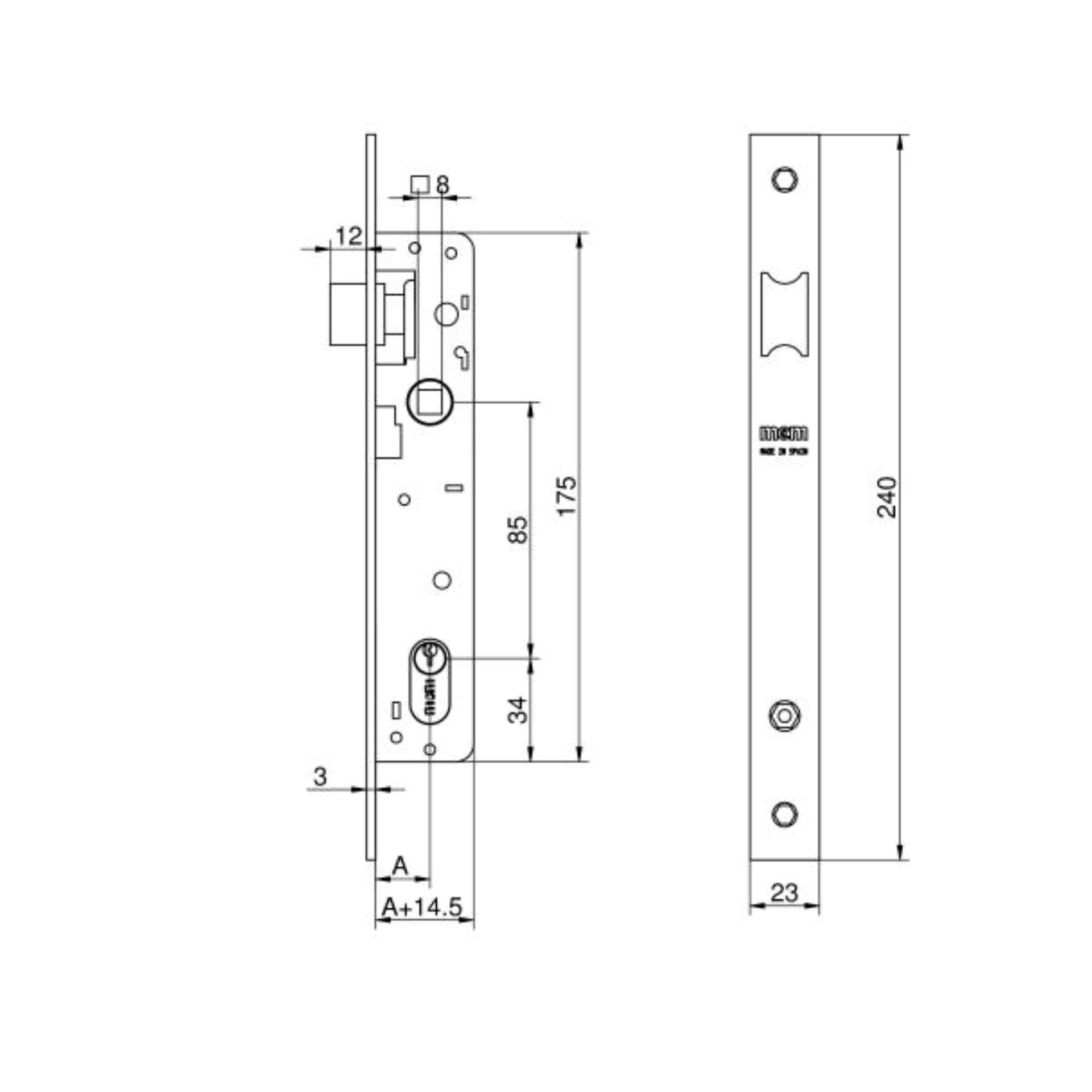 Imagen de Cerradura embutir MCM 1553-21 portero automático