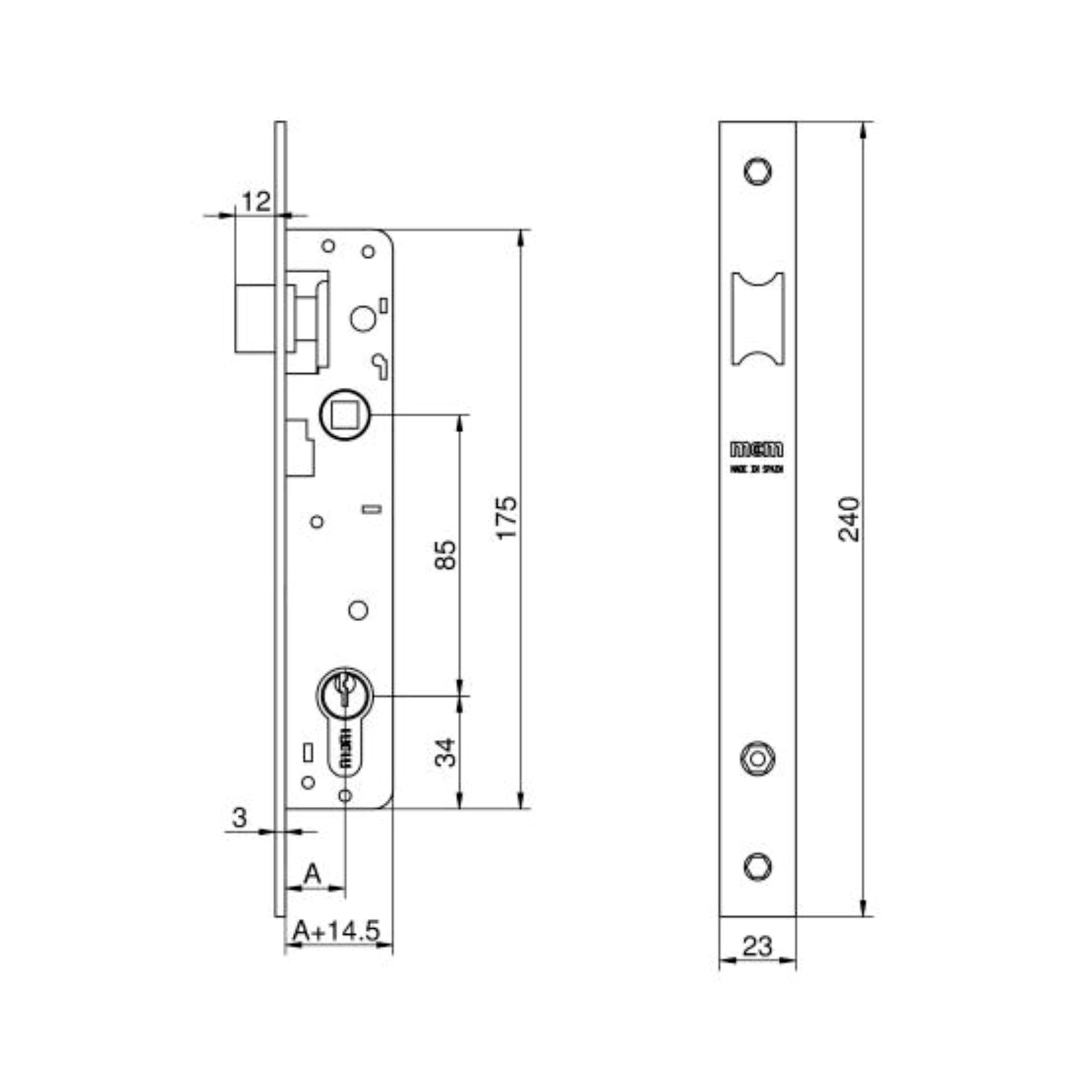 Imagen de Cerradura embutir MCM 1653-21 portero automático