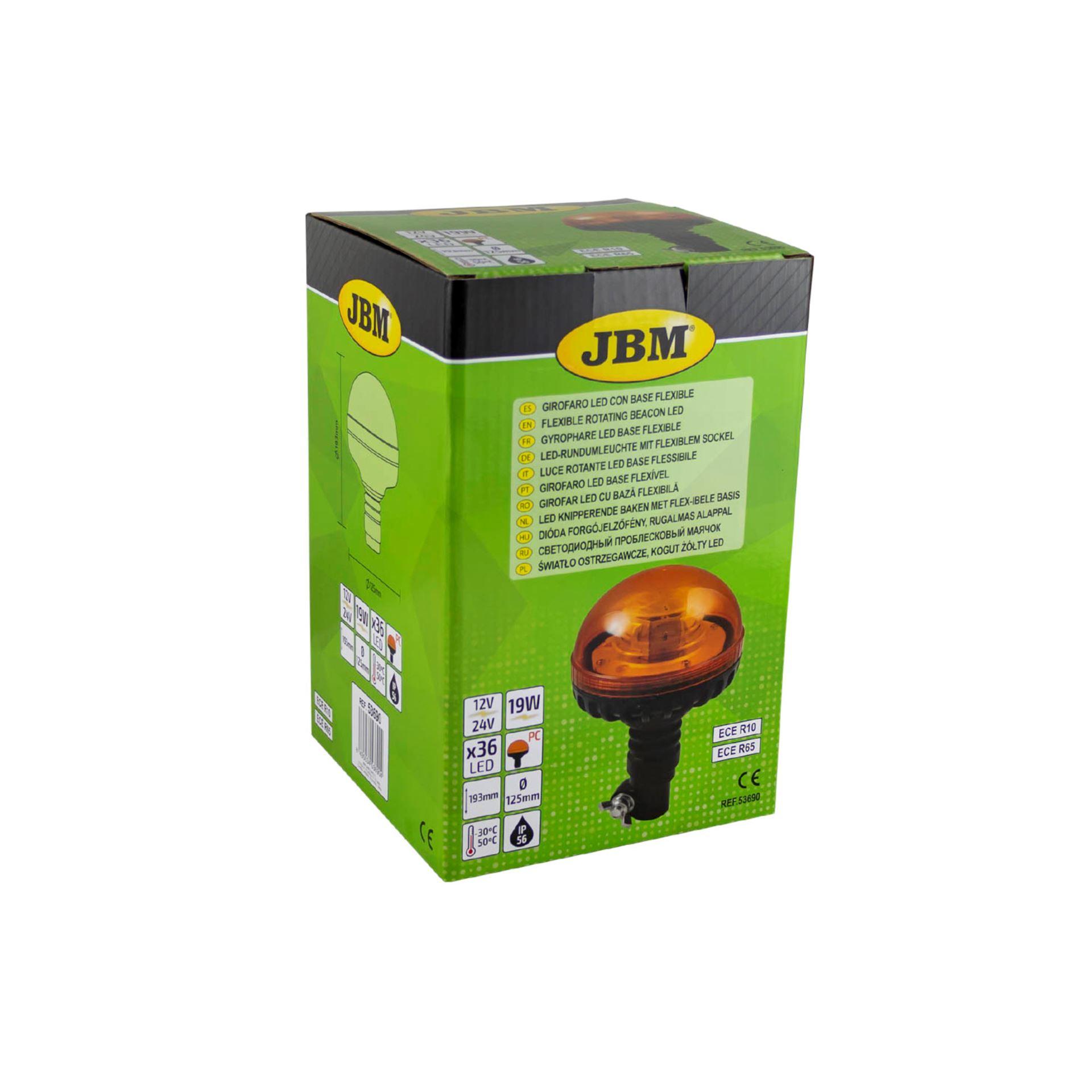 Imagen de Faro rotativo flexible led 12/24V JBM