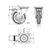 Imagen de Rueda giratoria goma Alex ZV-BS 125 mm 140 kg
