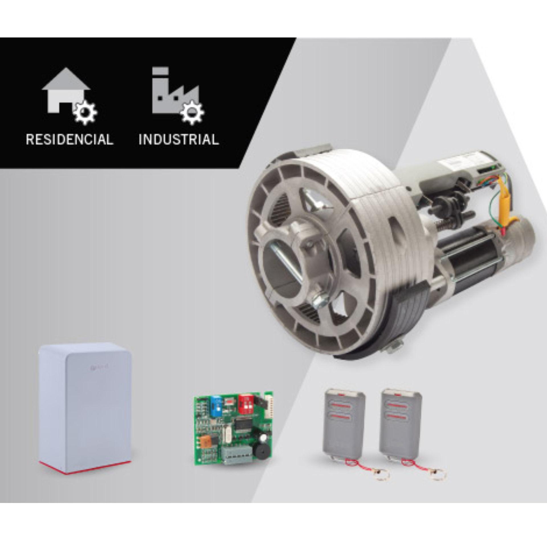 Imagen de Motor puerta enrollable hasta 360 Kg Erreka Delfos Kit completo